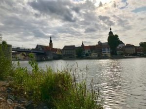 Gartenschaugelände Kitzingen - Blick auf die Altstadt
