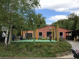 Märchenwald Sambachshof - Trampolinanlage und Indoorhalle