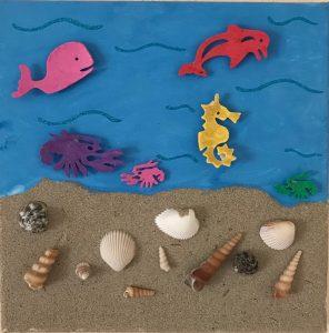 Sandbilder Meerestiere