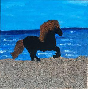 Sandbilder - Pferd