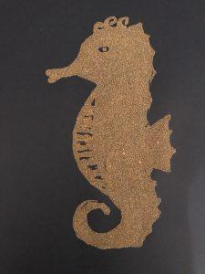 Sandbilder - Seepferdchen