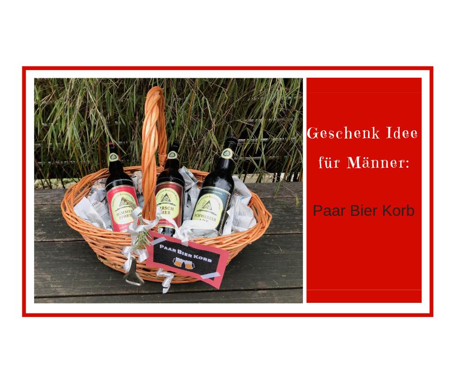 Geschenkidee Für Männer Der Paar Bier Korb Milch Wein