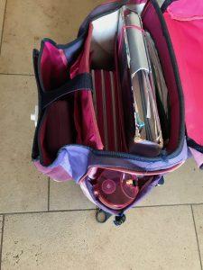 Schultasche richtig packen